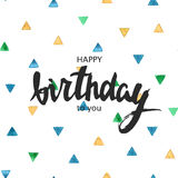 Happy birthday card. Typography for poster, invitation, greeting card or t-shirt. Stock Photo