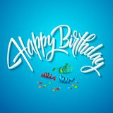 Happy birthday card typography. Vector Royalty Free Stock Images