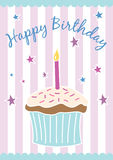 Happy birthday card (vector) stock illustration