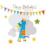 Happy birthday card. Vector happy birthday fun greeting card Stock Photo
