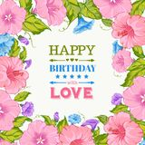 Happy birthday card. Royalty Free Stock Photography