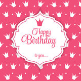 Happy Birthday Card Vector Illustration.  Royalty Free Stock Photo