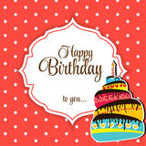 Happy Birthday Card Vector Illustration.  Royalty Free Stock Photography