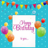 Happy Birthday Card Vector Illustration Stock Images