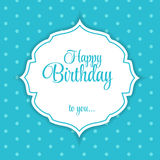 Happy Birthday Card Vector Illustration.  Stock Photo