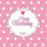 Happy Birthday Card Vector Illustration Royalty Free Stock Photo