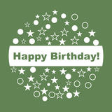 Happy Birthday Card. Royalty Free Stock Photography