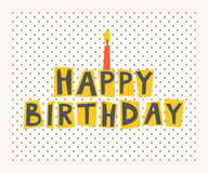 Happy birthday card. Vector illustration Royalty Free Stock Photos