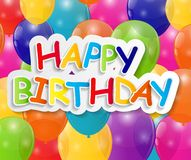 Happy Birthday Card Vector Illustration Royalty Free Stock Images