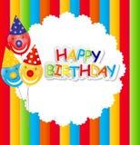 Happy Birthday Card Vector Illustration Royalty Free Stock Photo