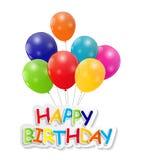 Happy Birthday Card Vector Illustration Stock Photo