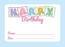 Happy birthday card. Vector illustration graphic design Stock Image