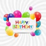 Happy Birthday Card Vector Illustration Stock Photos