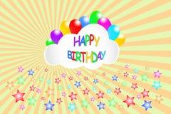 Happy Birthday card vector Royalty Free Stock Photography