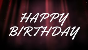 Happy Birthday Card Video Against Animated Red Glowing Background Royalty Free Illustration