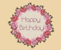 Happy Birthday card Stock Photo