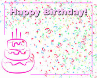 Happy Birthday Card_White Royalty Free Stock Photos