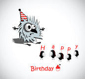 Happy Birthday Cards birds Stock Image