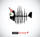 Happy Birthday Cards fish Royalty Free Stock Image