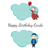 Happy birthday cards for kids Royalty Free Stock Photos