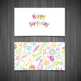 Happy birthday cards Stock Images