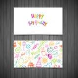 Happy birthday cards. Vector illustration (eps 10) of Happy birthday cards royalty free illustration
