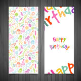 Happy birthday cards Royalty Free Stock Photos