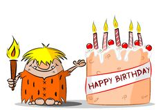 Happy Birthday Cartoon Royalty Free Stock Photography