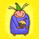 Happy Birthday Cartoon Character Royalty Free Stock Images