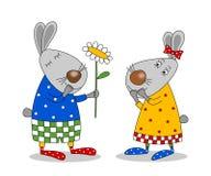 Happy birthday. Cartoon characters. Royalty Free Stock Image
