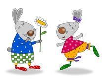 Happy birthday. Cartoon characters. Stock Photography