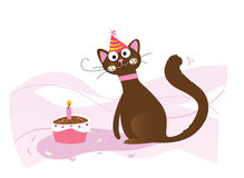 Happy birthday, cat! Stock Images