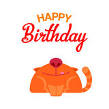 Happy Birthday cat card Stock Photography