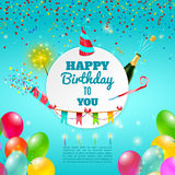 Happy birthday celebration background poster Royalty Free Stock Images