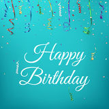 Happy birthday celebration background template Stock Photography