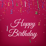 Happy birthday celebration background Royalty Free Stock Image