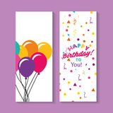 Happy birthday celebration card with balloons Royalty Free Stock Image