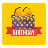 Happy birthday celebration card with gifts presents. Vector illustration design Royalty Free Stock Images