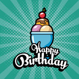 Happy birthday celebration card. Illustration design Royalty Free Stock Images