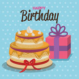Happy birthday celebration card. Illustration design Stock Images
