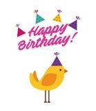 Happy birthday celebration card Stock Image