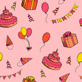 Happy birthday celebration graphic art color seamless pattern illustration Stock Image