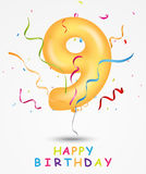 Happy Birthday celebration greeting card. Illustration of Happy Birthday, celebration greeting card with number and text vector illustration
