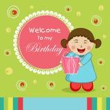 Happy Birthday celebration Invitation card. Royalty Free Stock Photography