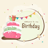 Happy Birthday celebration Invitation card. Royalty Free Stock Images