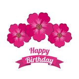 Happy birthday celebration poster floral Stock Photography