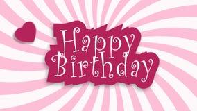 Happy Birthday celebration typography stock footage