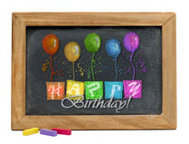 Happy Birthday Chalkboard . Royalty Free Stock Image