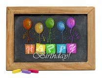 Happy Birthday Chalkboard . Royalty Free Stock Image
