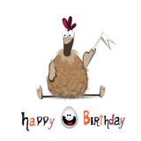 Happy Birthday chicken and egg Royalty Free Stock Photo